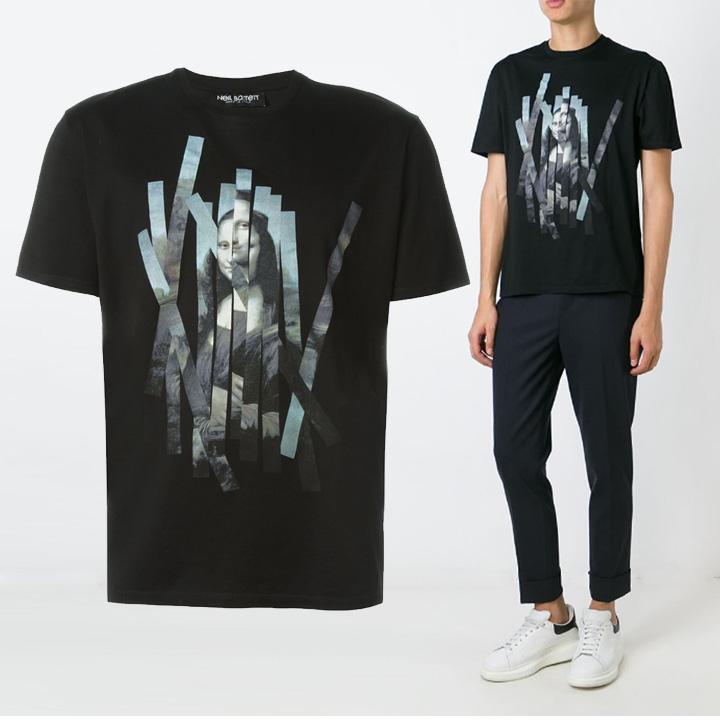 [당일]닐바렛 모나리자 프린팅 티셔츠BJT89S A533S 01